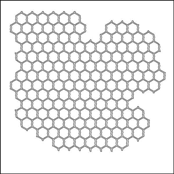 Pochoir motif grillage Mini Chicken Wire - 15X15cm (6X6)