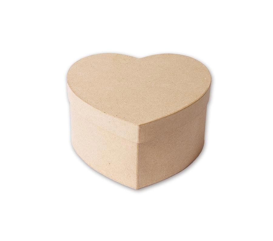 Boîte forme cœoeur en papier mâché