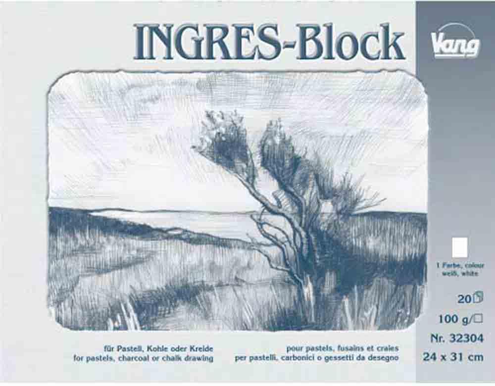 Bloc pastel Ingres - 20 f - papier blanc naturel