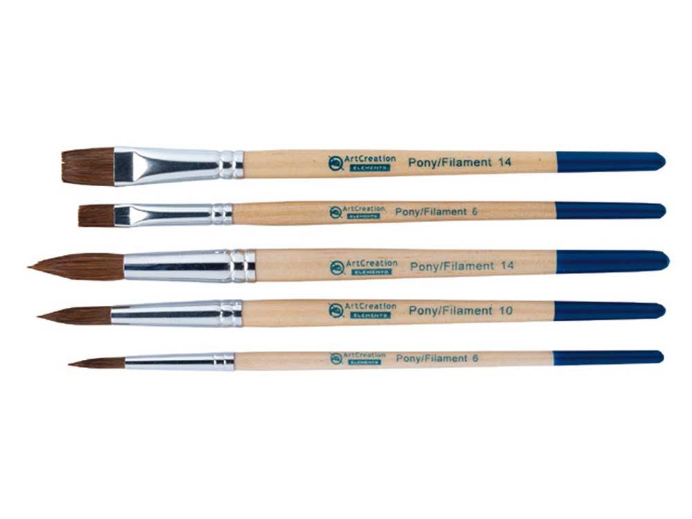 set 5 pinceaux pour aquarelle - ArtCreation Elements
