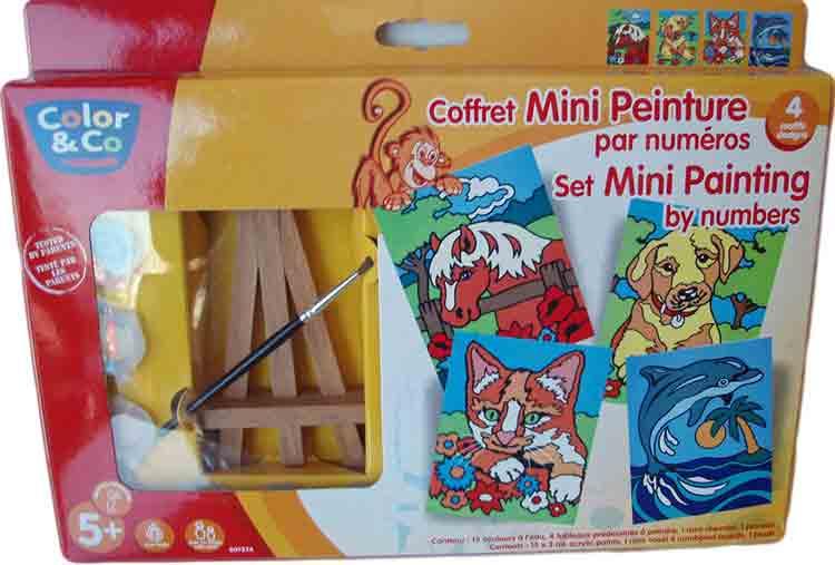 Coffret de mini peintures par numéros - Color & co