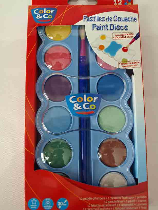 Gouache en pastilles - 12X30ml - Color & CO