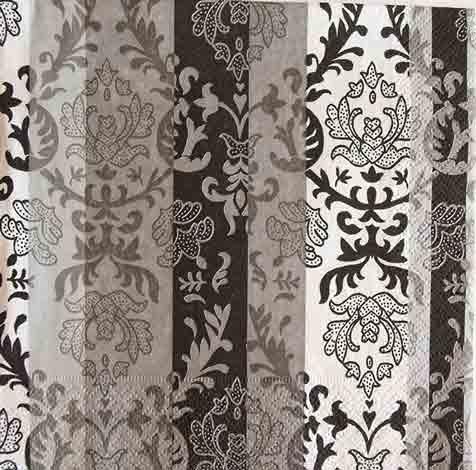 Serviette en papier  - Bandes baroques