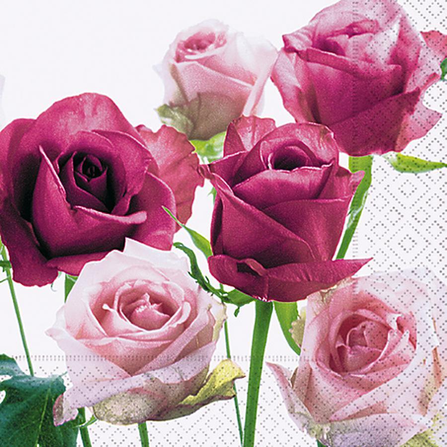 Serviette en papier - Roses