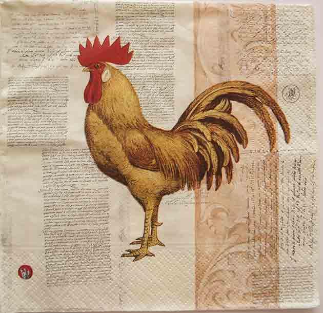 Serviette en papier  - Coq