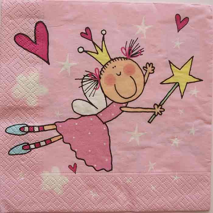 Serviette en papier  - Petite princesse