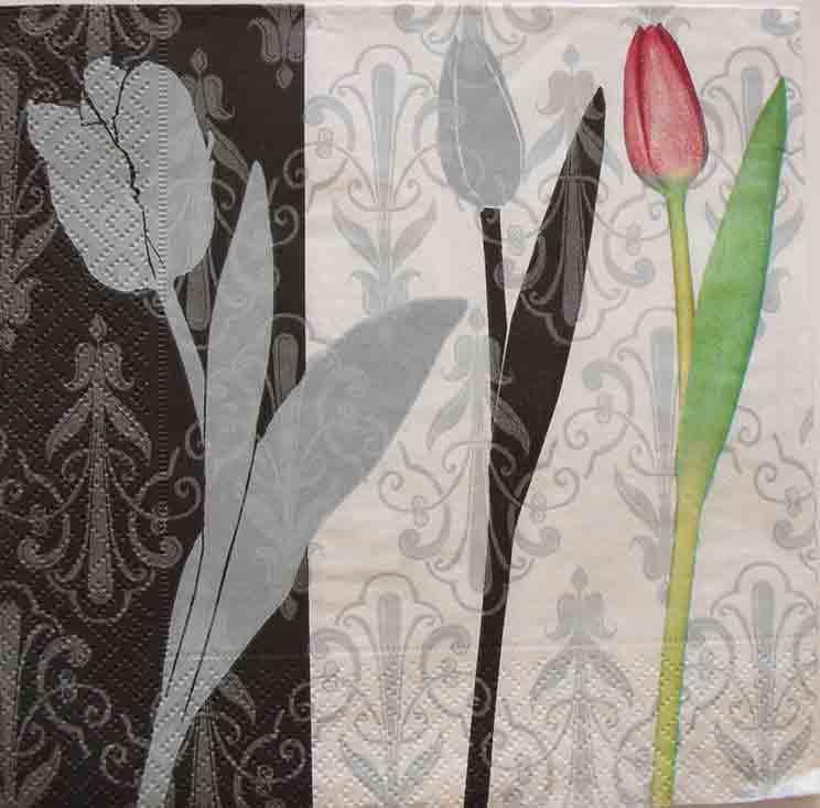 Serviette en papier - Tulipes de style