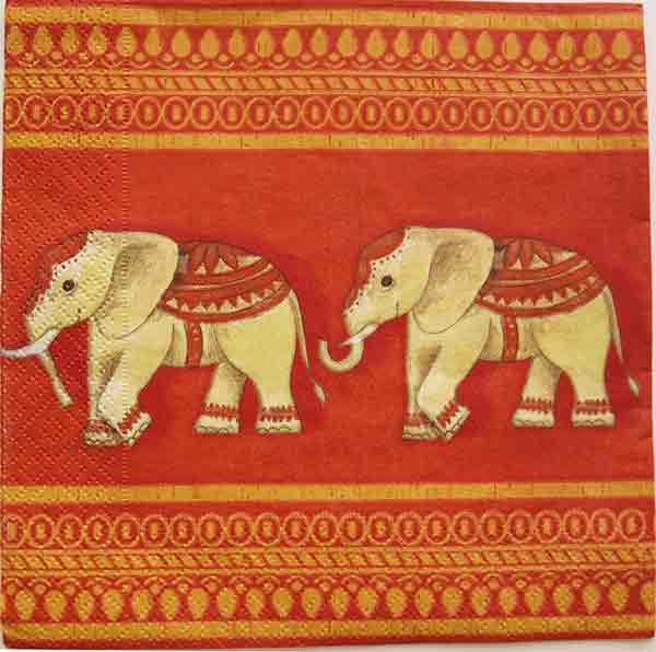Serviette en papier  - Elephant
