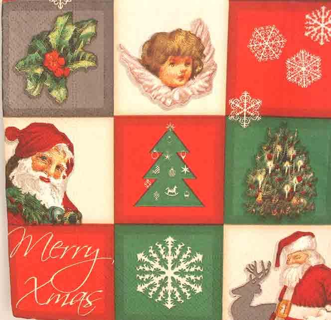 Serviette en papier Noël - Noël nostalgique