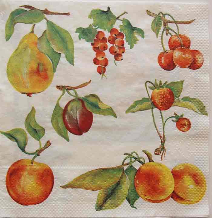 Serviette en papier  - Les fruits du jardin