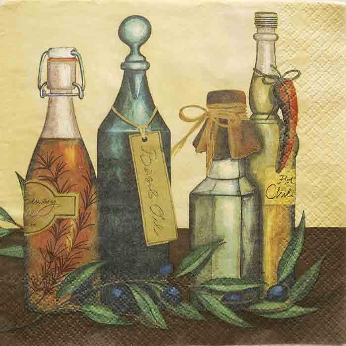 Serviette en papier - Huile d\'olive