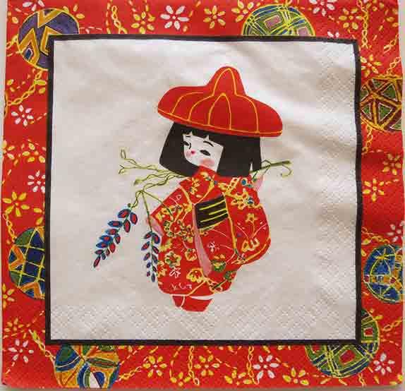 Serviette en papier  - Petite Japonaise