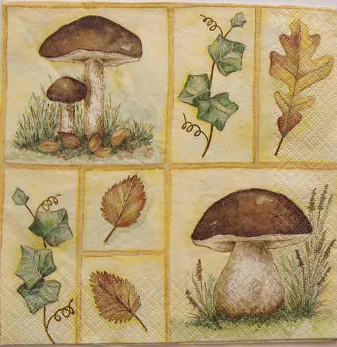 Serviette en papier  - Les champignons