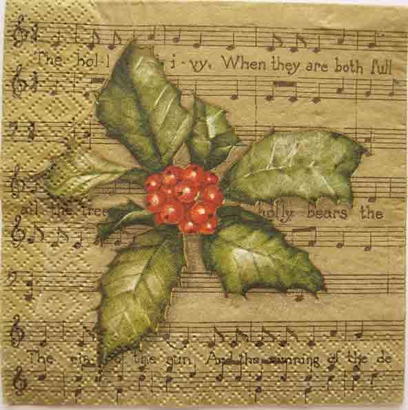 Serviette en papier Noël - Chanson de Noël