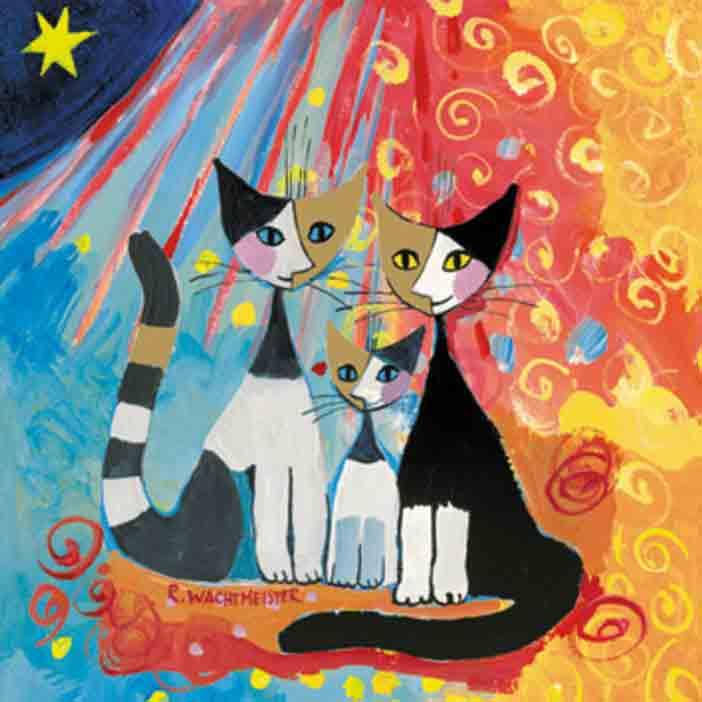 Serviette en papier - Famille chat - R.Weichtmeister