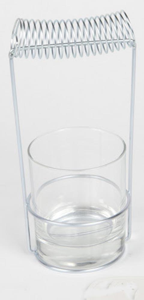 Pincelier avec pot en verre