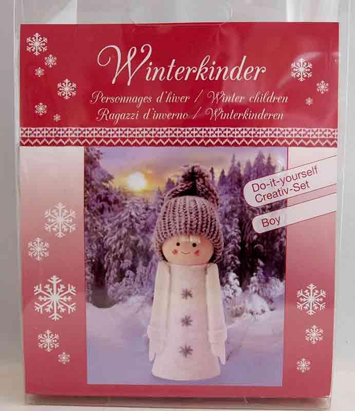 Kit créatif - 1 figurine personnages d\'hiver - garçon à habiller  - Glorex