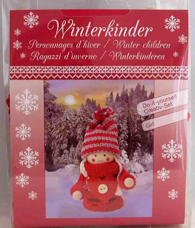 Kit créatif -  1 figurine personnages d\'hiver - fille rouge à habiller - Glorex