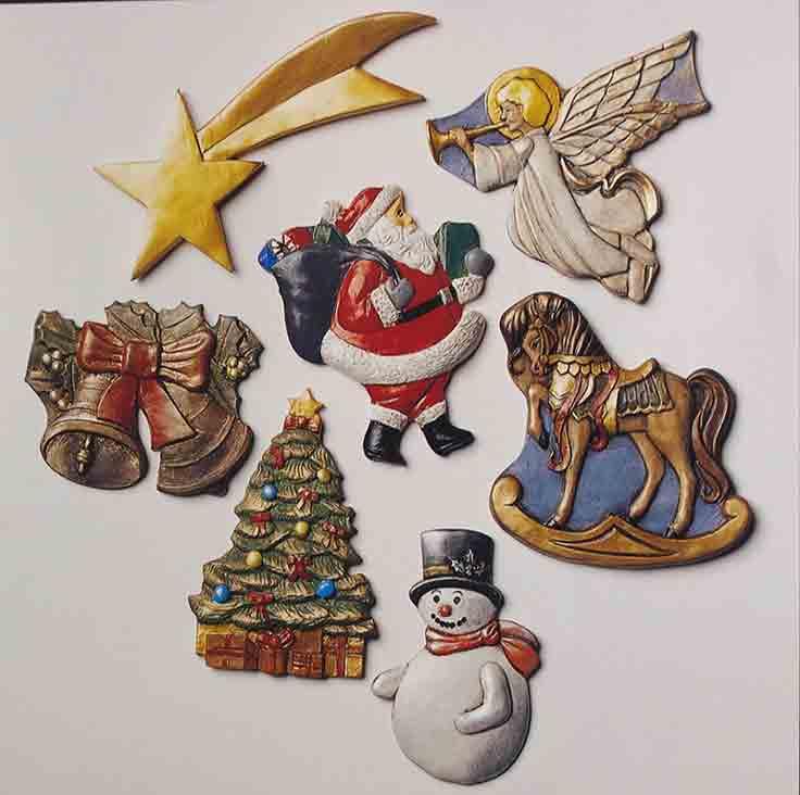 Moule à relief - Motifs de Noël 1 - Hobby Time