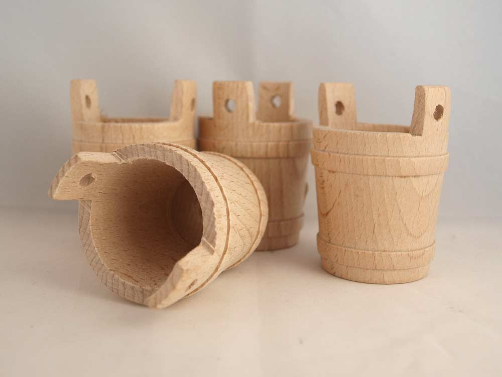 4 mini seilles en bois - 70X52mm