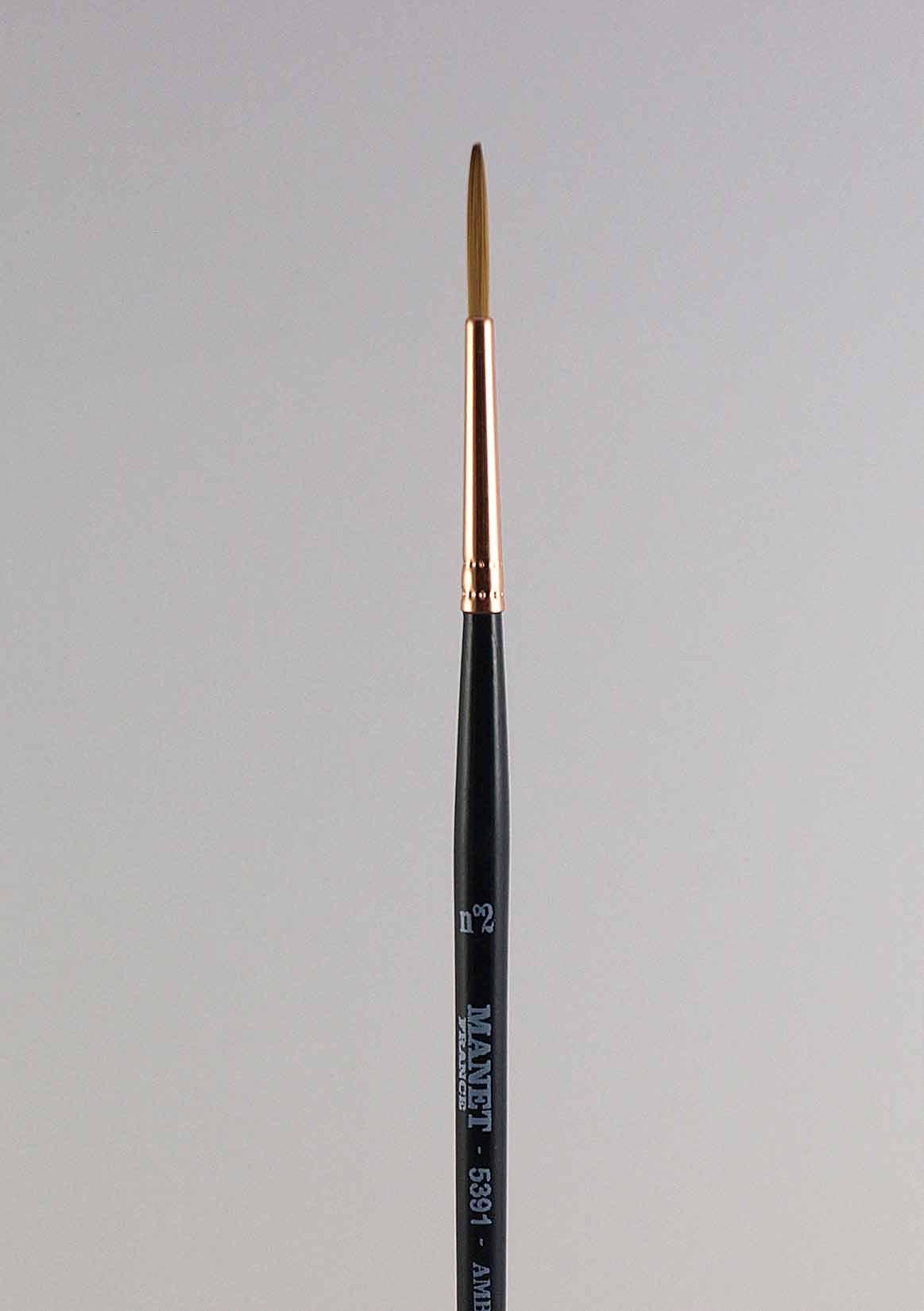 Pinceau rond ligneur -  manche court - imitation martre - Manet Ambre 5391