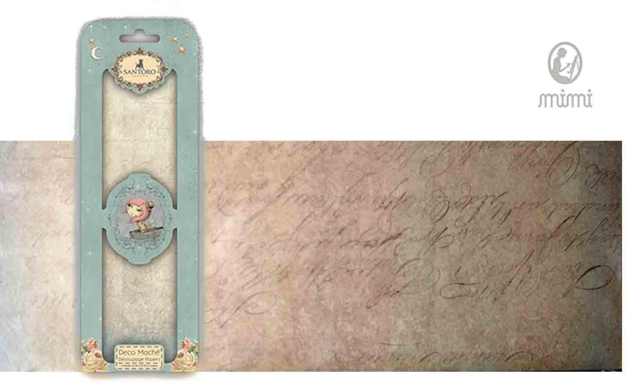 Papier découpage - Déco Maché - Santoro - texte ancien