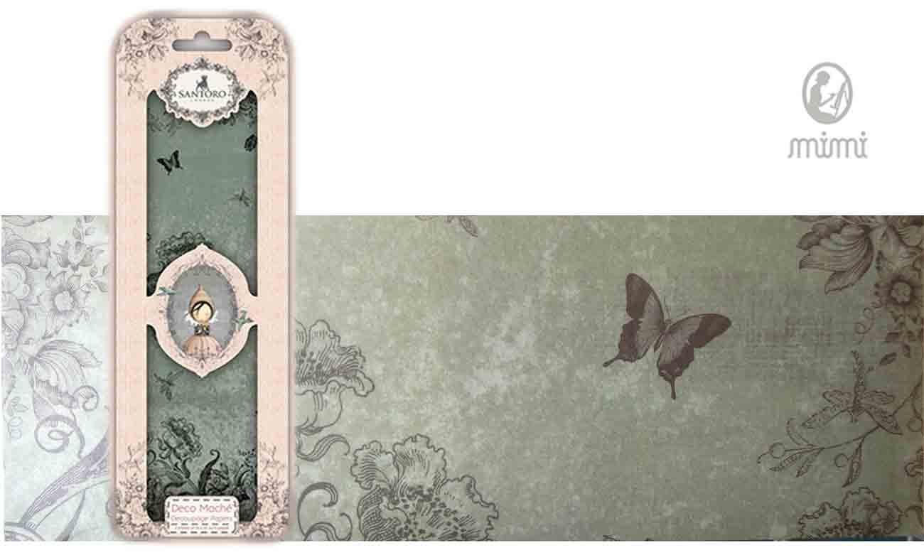 Papier découpage - Déco Maché - Santoro - Crépuscule