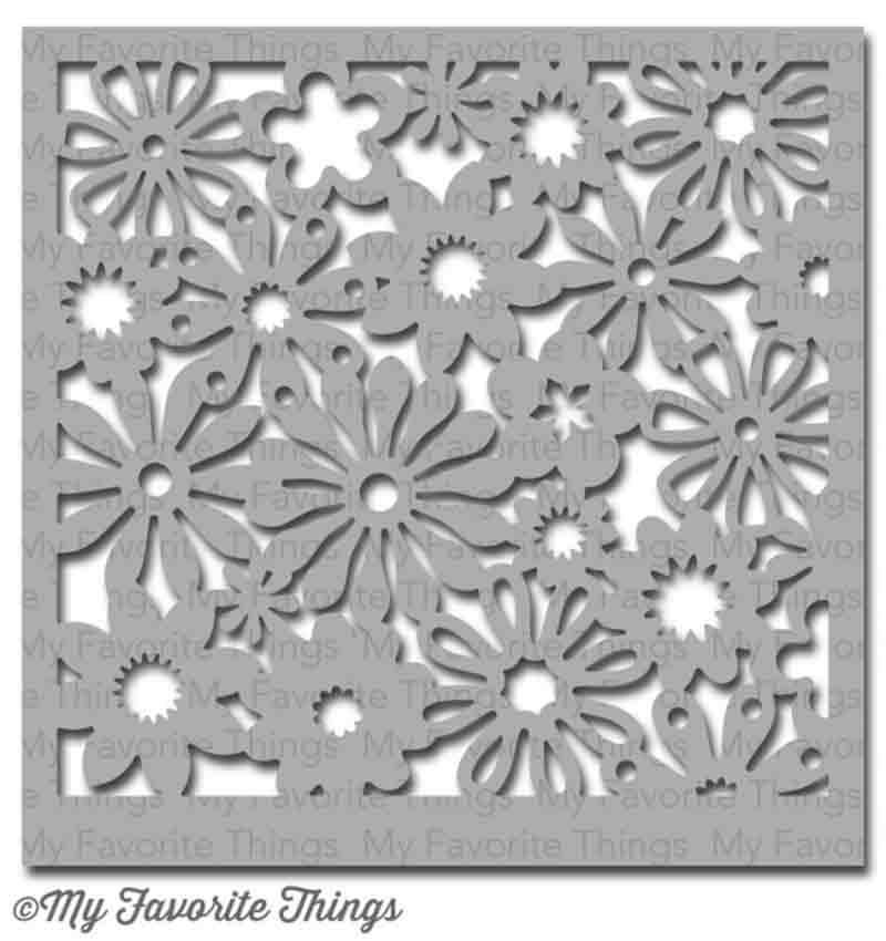 Pochoir motif Funky Florals