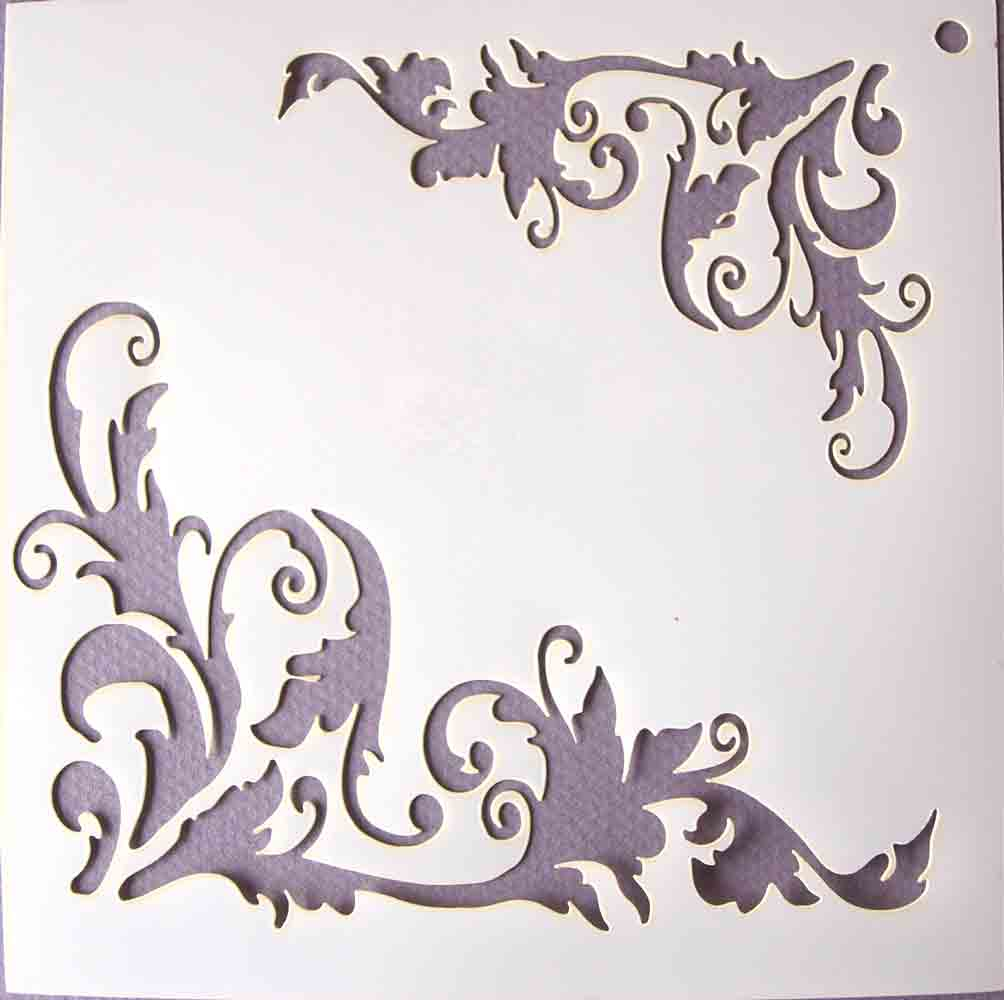 Pochoir motif Flourish - 14,7X14,7cm