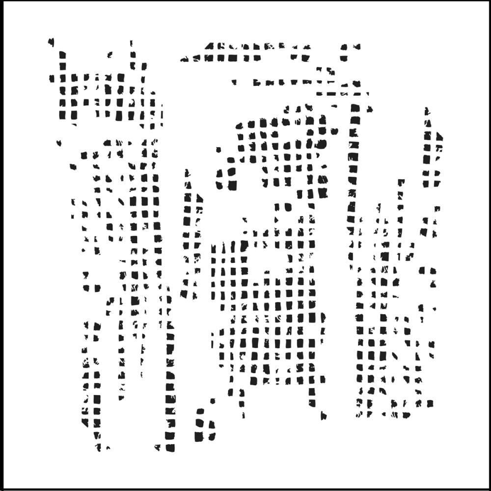 Pochoir motif  mini tile texture - 15X15 cm - TCW