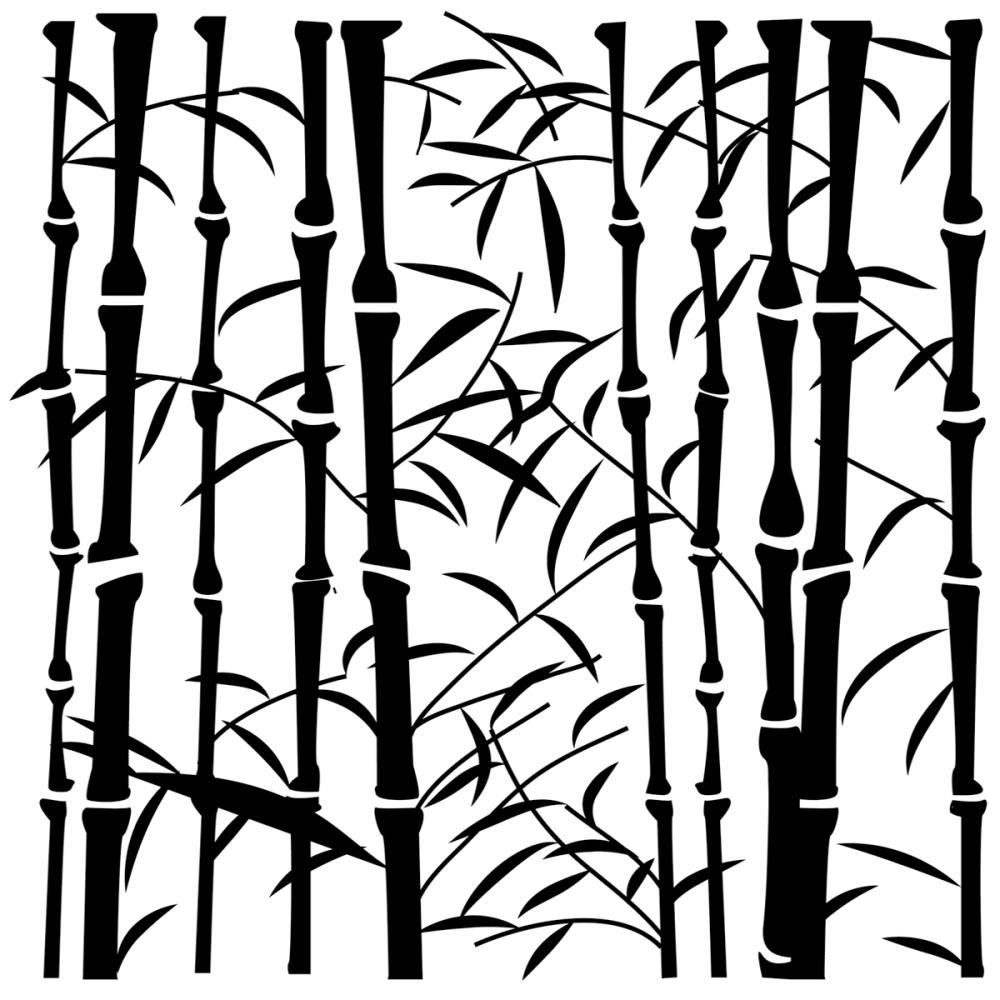 Pochoir motif  mini bamboo - 15x15 cm - TCW