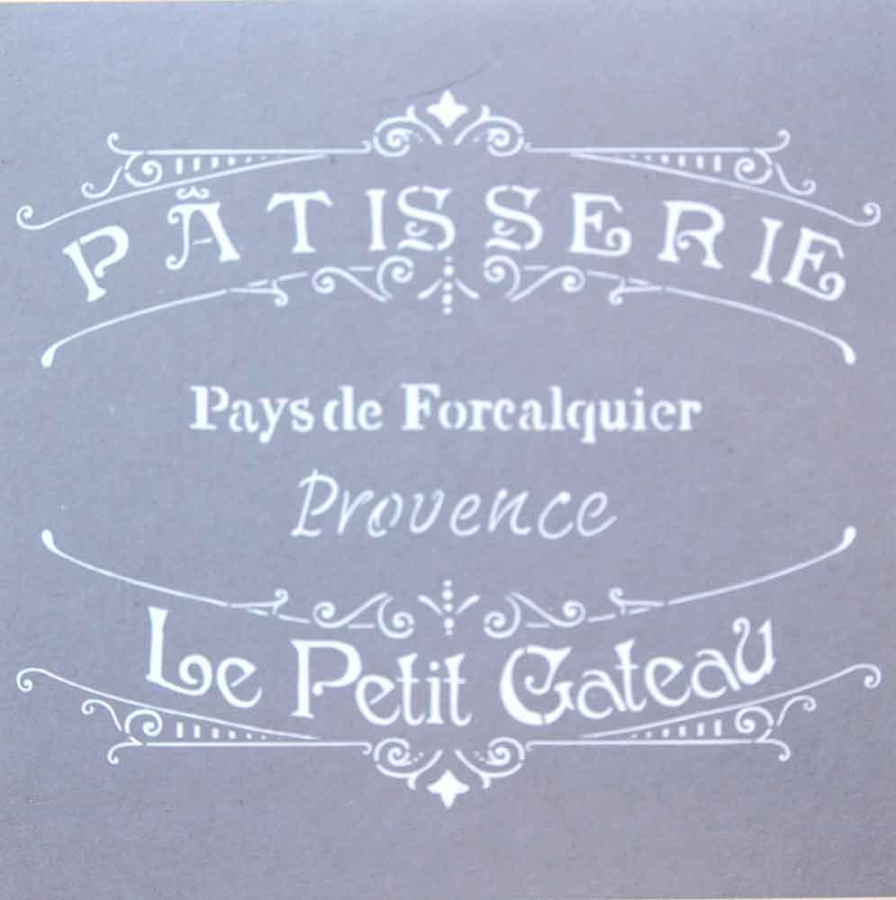 Pochoir motif  pâtisserie de Provence - Americana Decor Stencil - 30,5X30,5cm