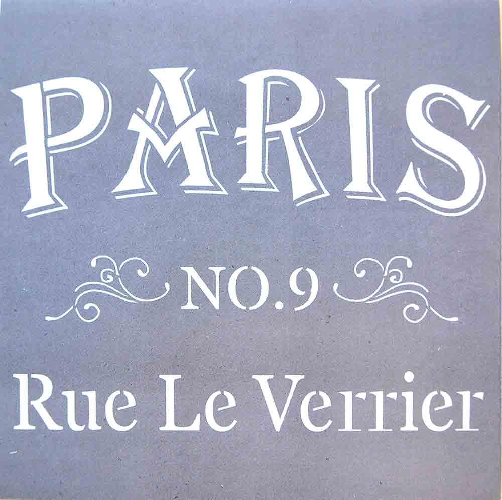 Pochoir motif Une rue de Paris - Americana Decor Stencil - 30,5X30,5cm