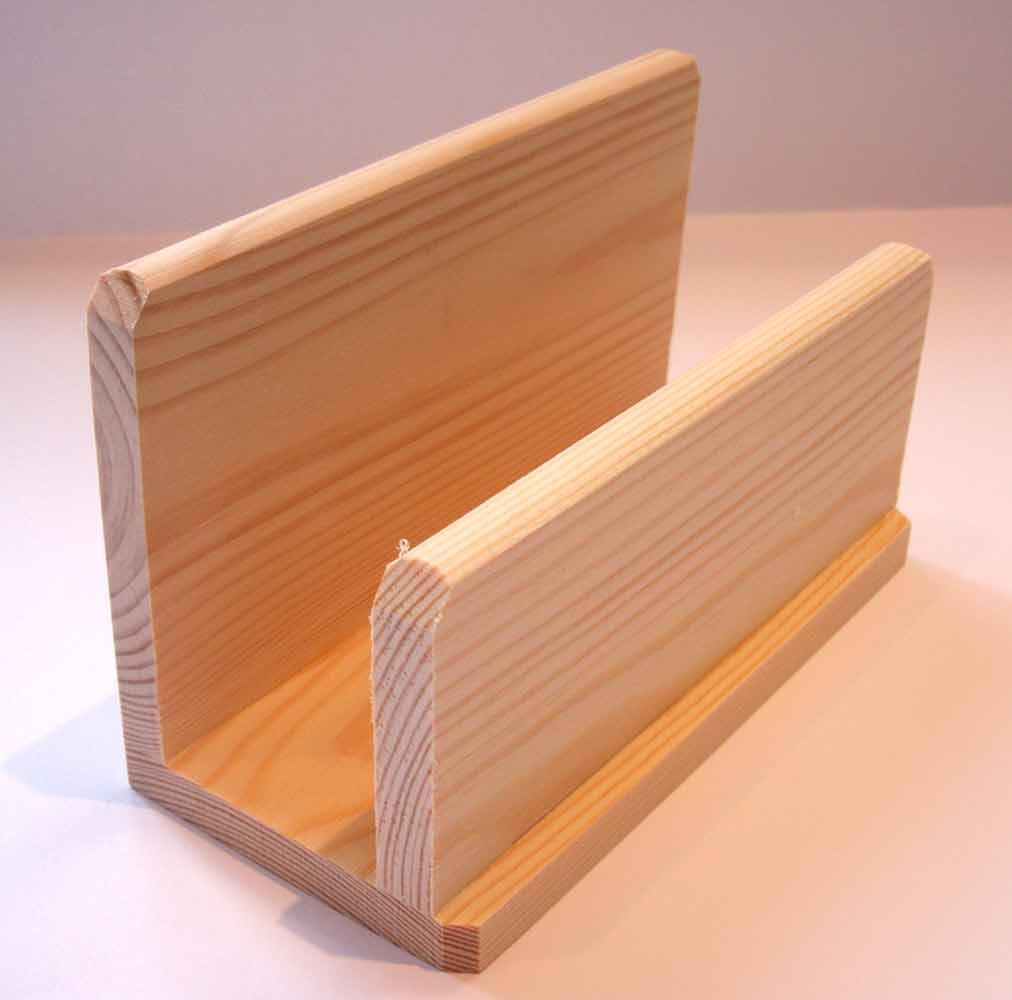 Range-lettres en bois brut