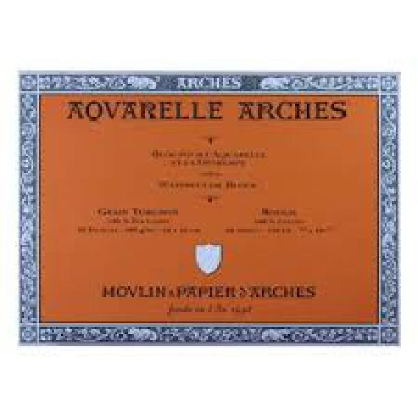 Bloc aquarelle Arches - 300g - Grain torchon - 20 feuilles