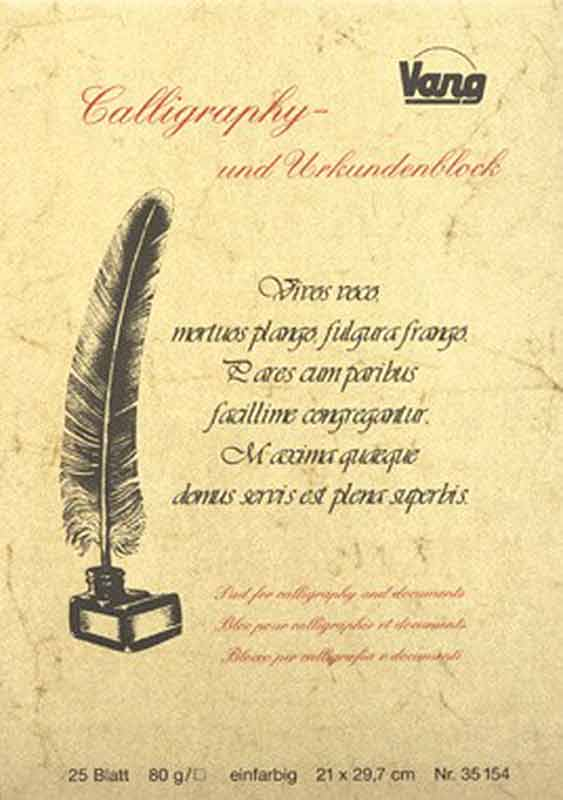 Bloc pour calligraphie et documents - A4