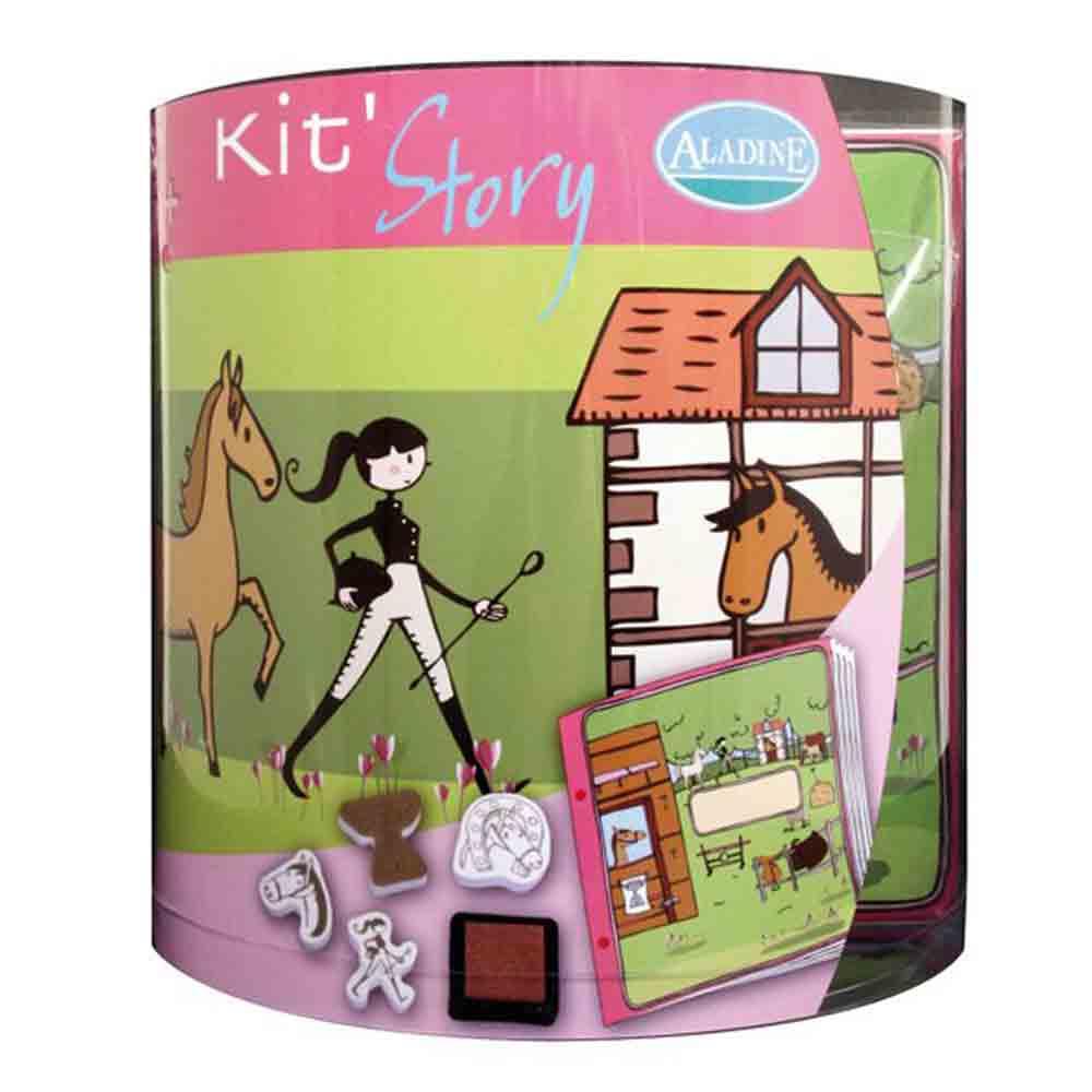 Kit story (Aladine) - Livre à illustrer - Les chevaux