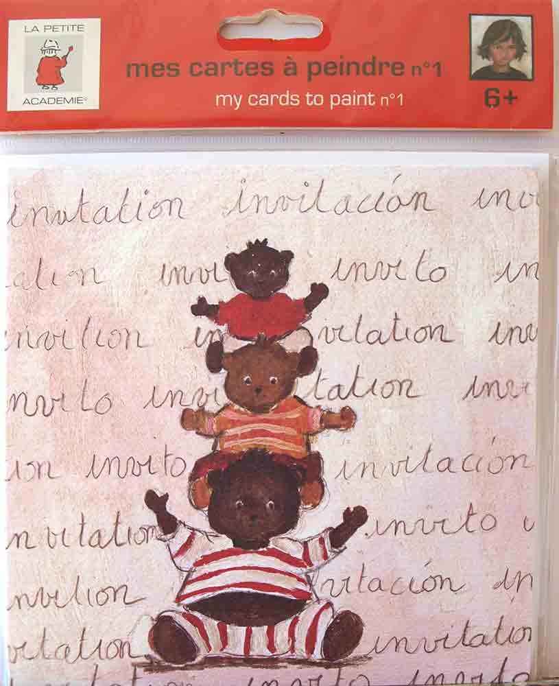 Mes cartes à peindre - Aladine (La Petite Académie) - Motif: ours
