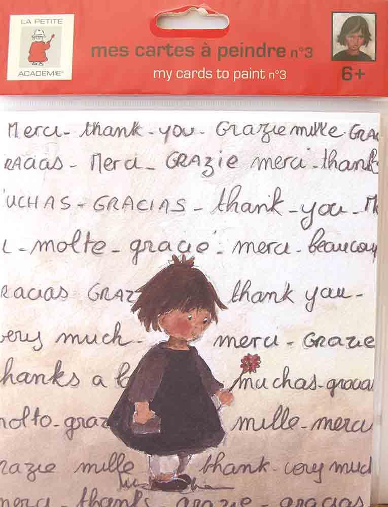 Mes Cartes à peindre - La Petite Académie - Aladine  - motif: petite fille