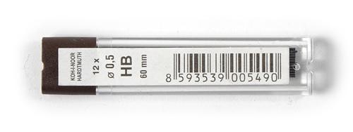 Etui 12 mines graphite Ø 0,5mm - HB