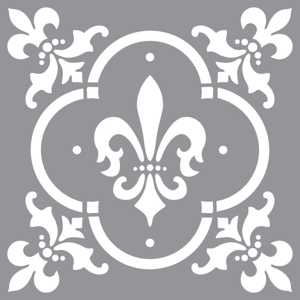 Pochoir motif Fleur de Lys - Americana Decor Stencil - 30X30cm