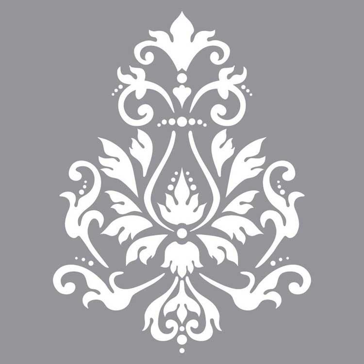 Pochoir motif Brocade - Americana Decor Stencil - 30X30cm