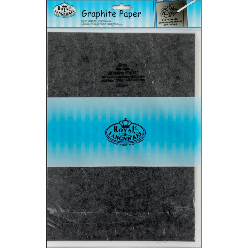 Papier transfert - Royal & Langnickel - 20 feuilles - 22,86x33cm - gris