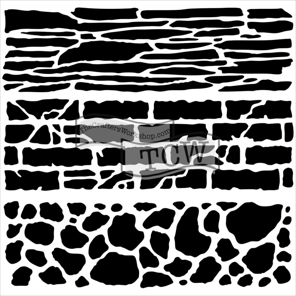 Pochoir motif Mini rock wall- 15X15cm