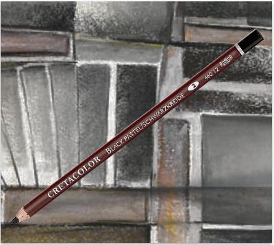 Crayon pastel noir Cretacolor