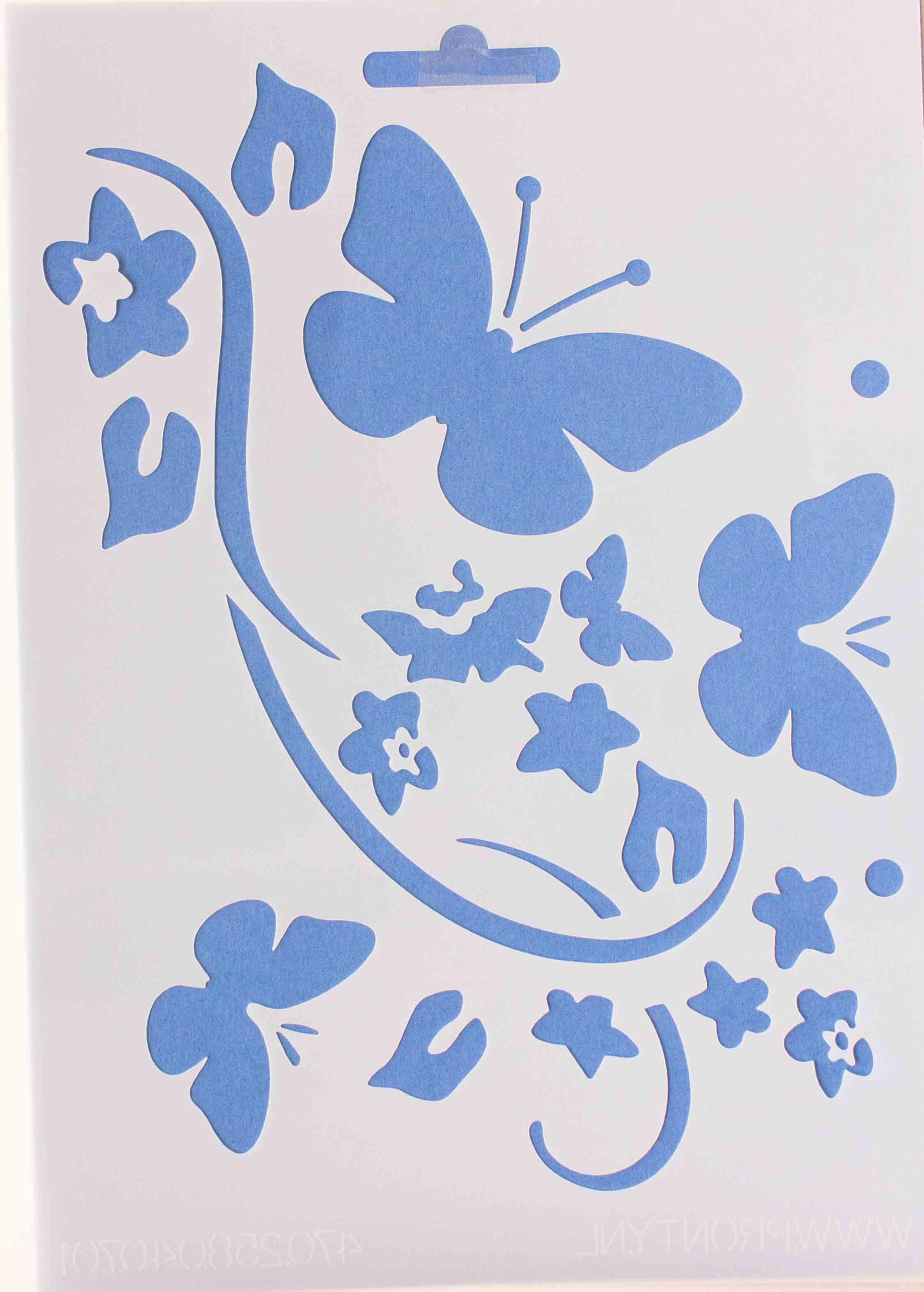 Pochoir envol de papillons - 15x21cm