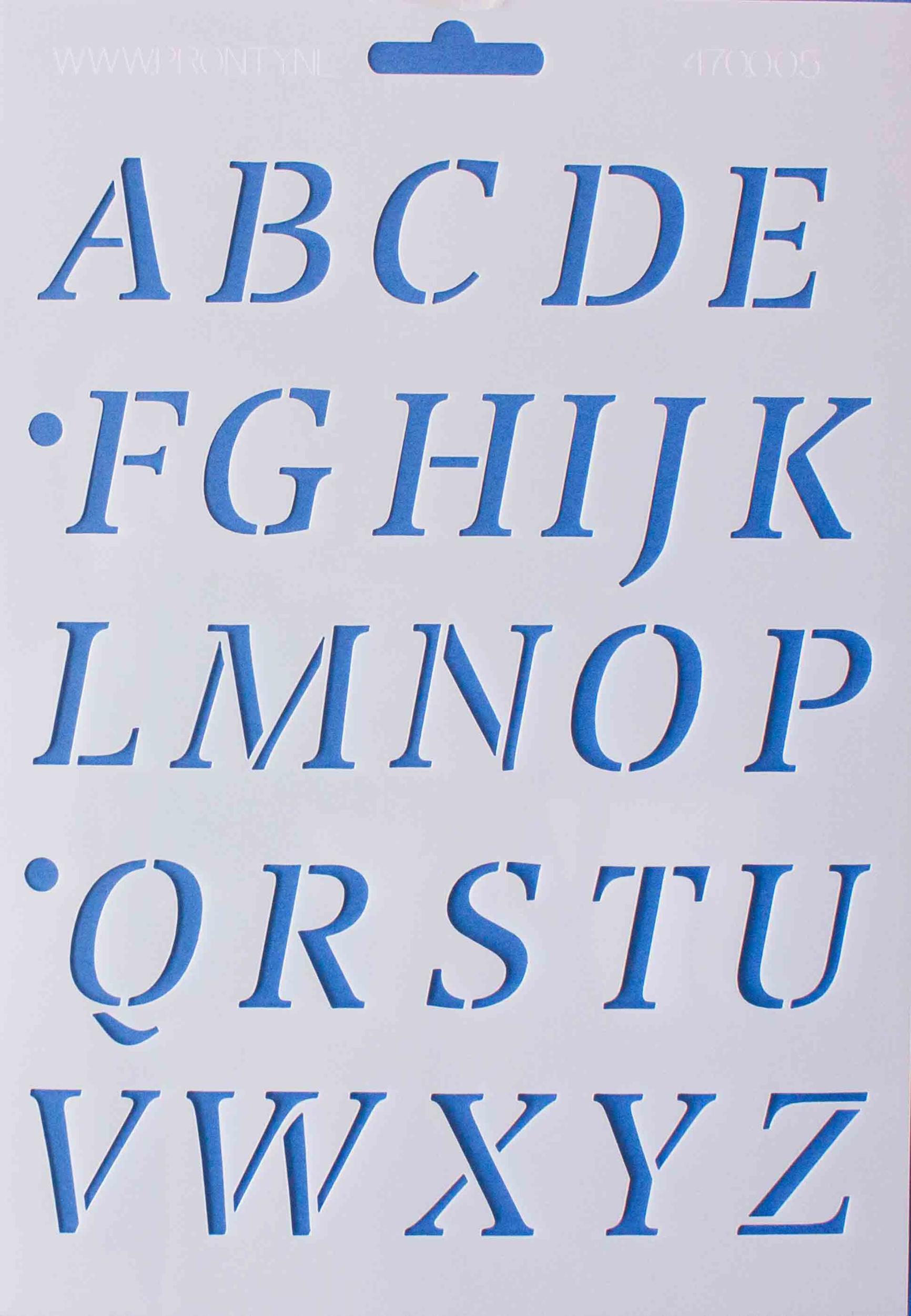 Pochoir Alphabet Majuscule - 16,8x24 cm