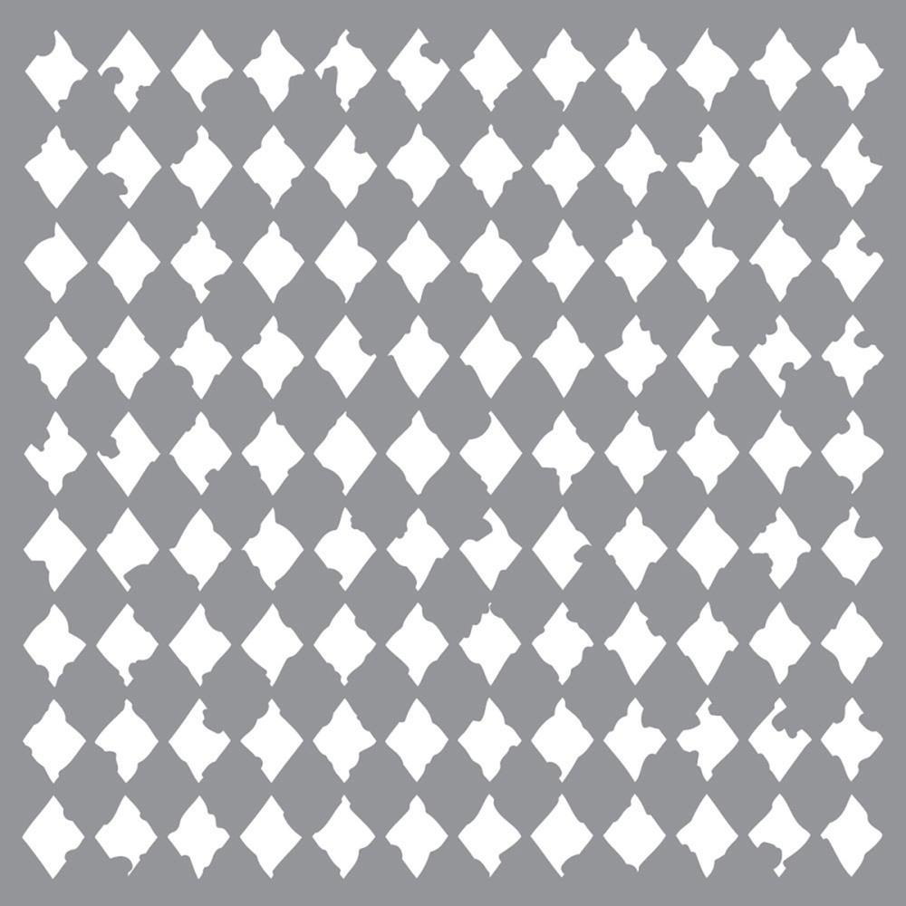 Pochoir motif  Arlequin vieilli - Americana Decor Stencil - 30,5X30,5cm