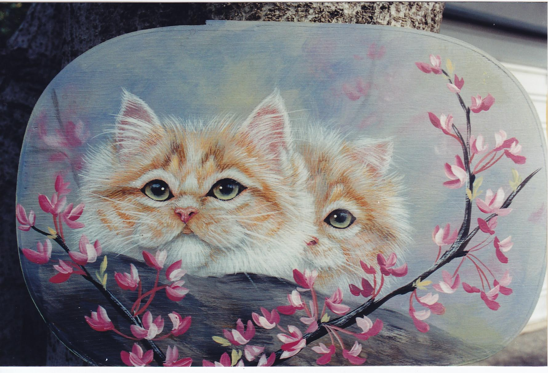 Kittens and REDBUD - Karen Hubbard