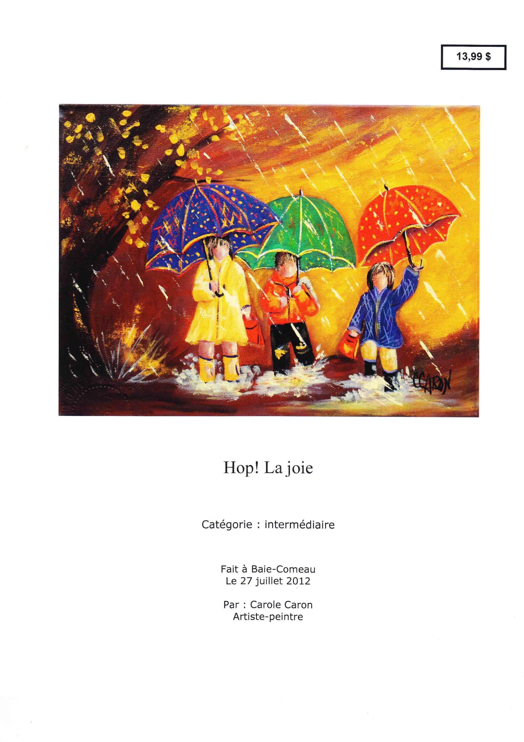 Hop !  la joie - Carole Caron